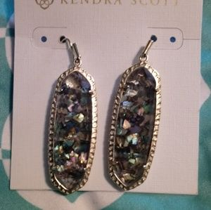 Kendra Scott Crushed Abalone Earrings